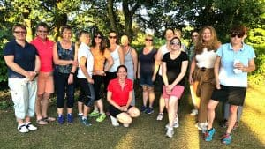 Group photo of ladies attending the first Love.golf session held by Kelly Bridges in Dorset