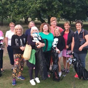 Image of 10 ladies who attended 2nd Love.golf aster session for beginners at Broadstone Golf Club